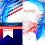 Stylish american flag design set Stock Photography