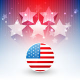 Stylish american flag design Stock Photo