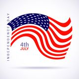 Stylish american flag for Independence day. Vector illustration Royalty Free Illustration