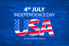 Stylish american independence day design vector Royalty Free Stock Photo