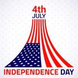 Stylish american Independence day design. Vector illustration stock illustration