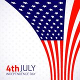 Stylish american Independence day design. Vector illustration Royalty Free Stock Photos