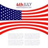 Stylish american Independence day design. Vector illustration royalty free illustration