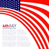 Stylish american Independence day design. Vector illustration Royalty Free Stock Image