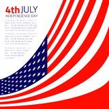 Stylish american Independence day design. Vector illustration Royalty Free Stock Photography