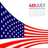 Stylish american Independence day design. Vector illustration Royalty Free Stock Photo