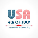 Stylish American Independence Day greeting Stock Image