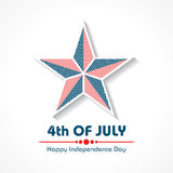Stylish American Independence Day greeting Royalty Free Stock Images