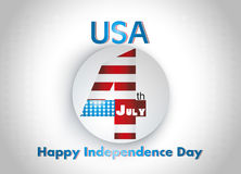 Stylish American Independence Day Illustration. Royalty Free Stock Photography