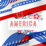 Stylish american independence day Royalty Free Stock Images