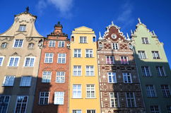 Stylish apartment houses on Long Square in Gdansk, Stock Images