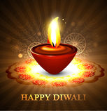 Stylish artistic happy diwali rangoli Stock Photo