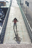 Stylish Asian girl on the street Royalty Free Stock Photo