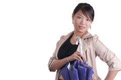 Stylish Asian woman with Umbrella Royalty Free Stock Images