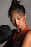 Stylish asian young woman Stock Images