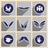 Stylish assembly eagle logo Royalty Free Stock Photos