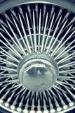 Stylish automotive wheel with spokes.  Royalty Free Stock Photo