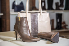 Stylish autumn boots sale Stock Images