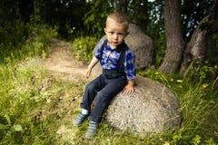 Stylish baby boy Royalty Free Stock Photo