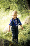 Stylish baby boy Stock Photography