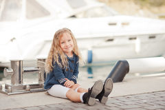 Stylish baby girl Stock Image