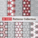 Stylish backdrops collection. Abstract seamless patterns. Eps 10 vector illustration Stock Photo