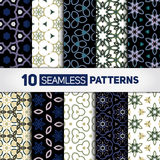Stylish backdrops collection. Abstract seamless patterns. Eps 10 vector illustration Stock Photos