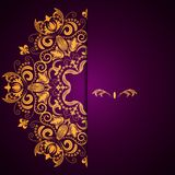 Stylish background with circular floral pattern and place for text. Royalty Free Stock Photo