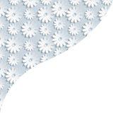 Stylish background with 3d flower chamomile Royalty Free Stock Image