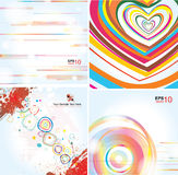 Stylish backgrounds on different topics vector illustration
