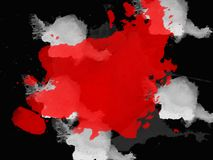 Stylish backgrounds in grunge style in black and red colors Royalty Free Stock Photo