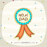 Stylish badge for Happy fathers Day. Royalty Free Stock Photos