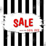 Stylish banner. Discount offer price label royalty free illustration