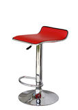 Stylish bar stool. Red stylish swivel chair - isolated on white Royalty Free Stock Photography