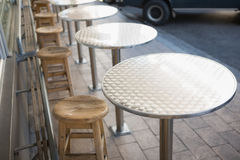 Stylish bar stool with table. At the bakery Royalty Free Stock Images