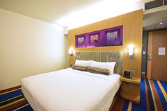 A stylish Basic Funky Chic Hotel Room in Bangkok royalty free stock image