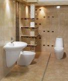 Stylish bathroom. Stylish modern bathroom with basin, sink and toilet Stock Photography