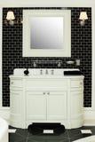 Stylish bathroom interior. Black and white design Royalty Free Stock Photography
