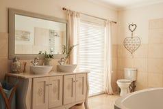 Stylish bathroom interior in a modern suburban home Stock Image