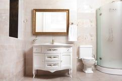 Stylish bathroom in luxury modern house. Stylish designed bathroom in luxury modern house stock photography