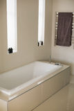 Stylish bathtub in a bathroom Royalty Free Stock Photo