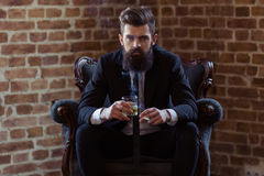 Stylish bearded businessman Stock Photography