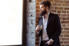 Stylish bearded businessman Royalty Free Stock Photos