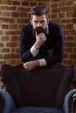 Stylish bearded businessman Stock Photos