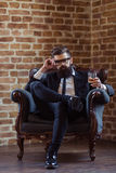 Stylish bearded businessman Royalty Free Stock Image