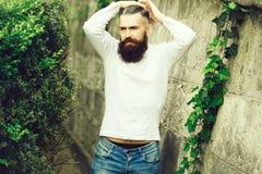 Free Stylish Bearded Man Outdoor Royalty Free Stock Photography - 122197367