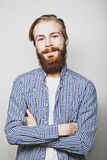 Stylish bearded man Royalty Free Stock Photos