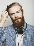 Stylish bearded man Stock Photo