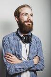 Stylish bearded man Royalty Free Stock Photography