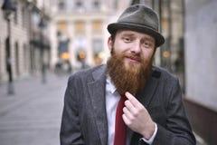 Stylish Bearded Man Stock Photography